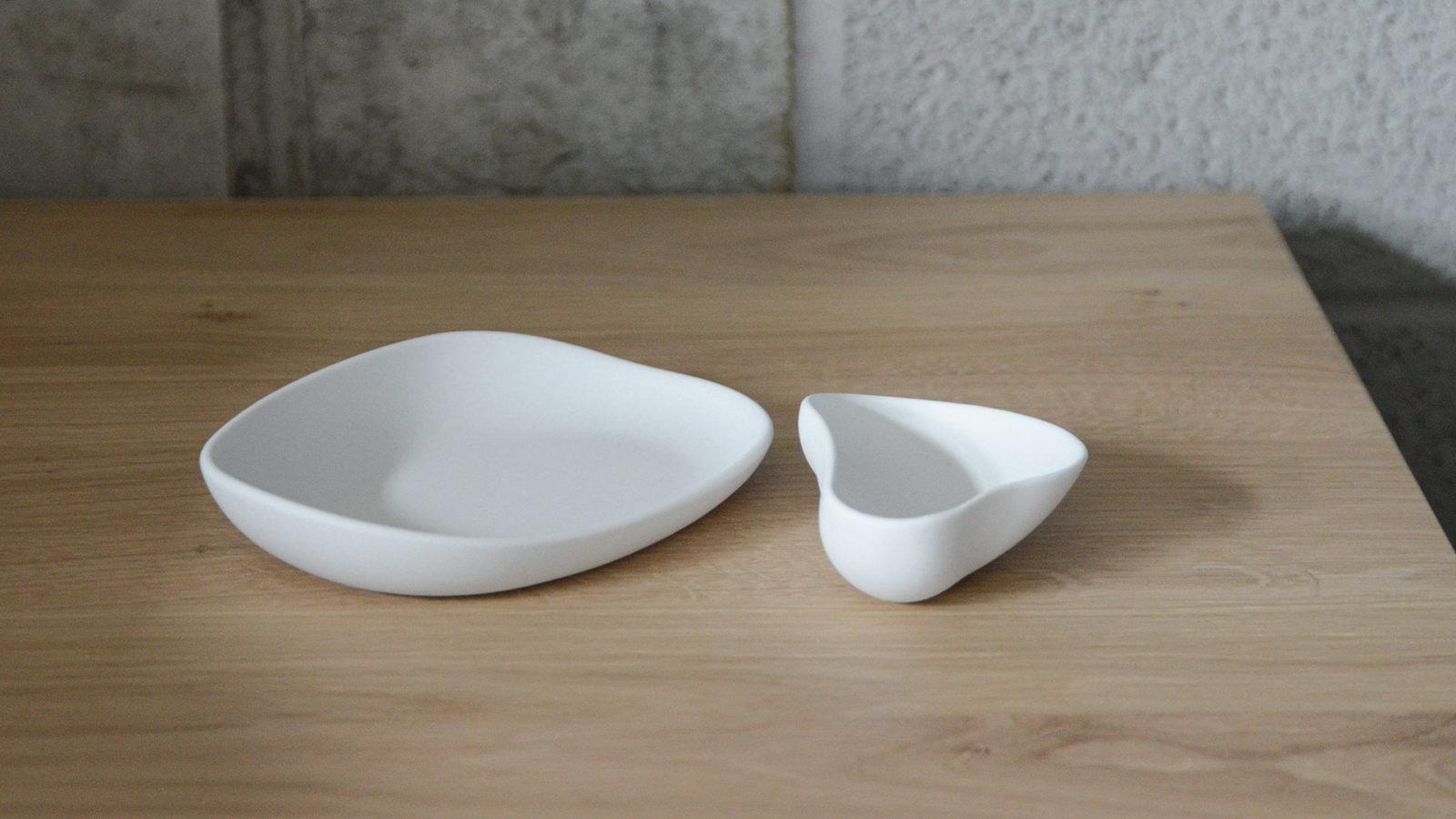 modern matt white irregular shape dishes