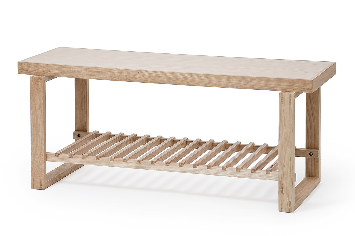 solid oak end-of-bed bench