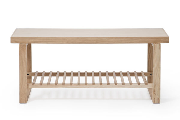 Wireworks oak bench front
