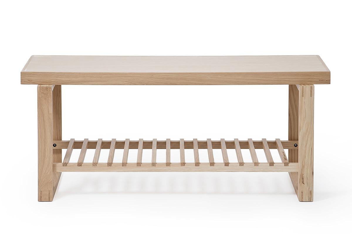 Wireworks oak bench front