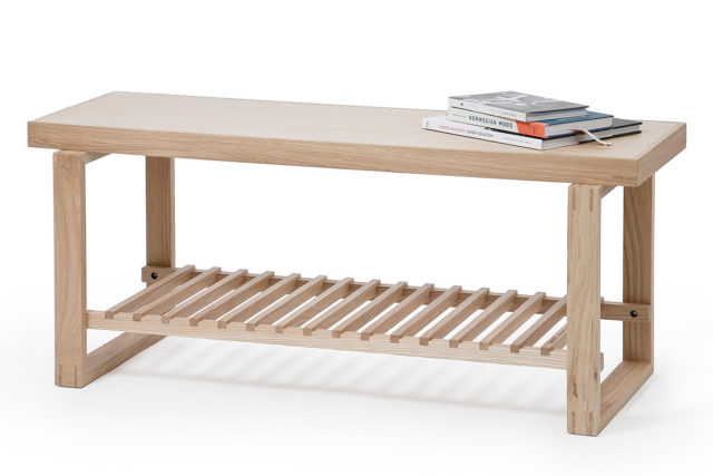 end of bed bench in solid oak