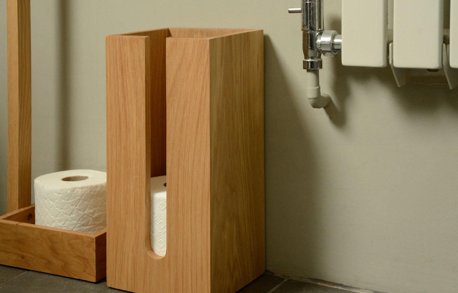 oak loo roll storage