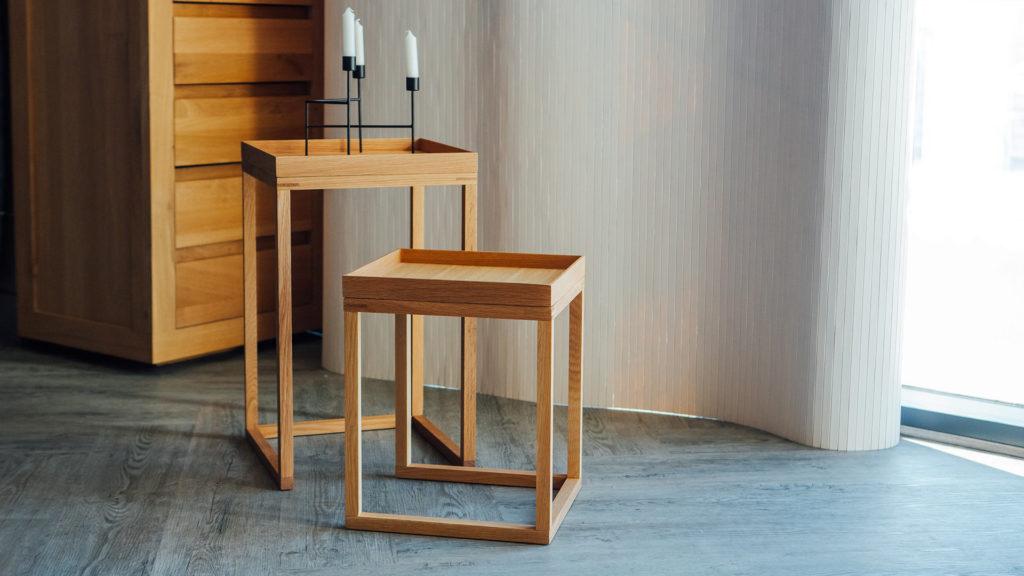 oak nest-of-tables