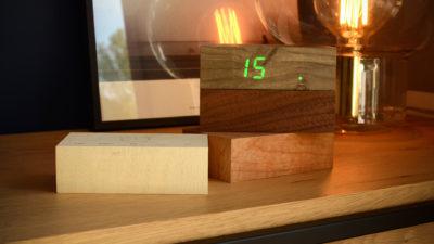 Wooden Flip Alarm Clocks