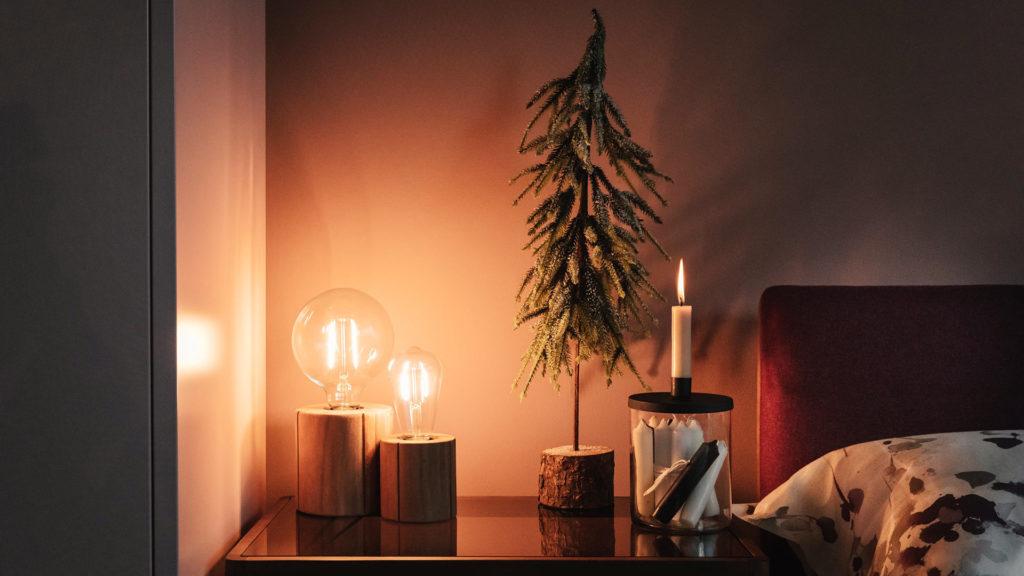 wooden lamp holders