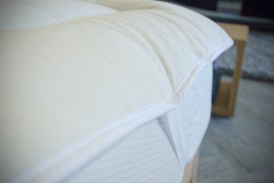 Wool Filled Mattress Topper Detail View