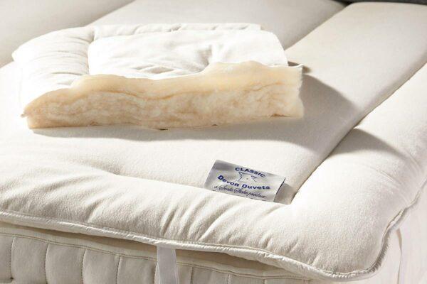 wool filled mattress topper