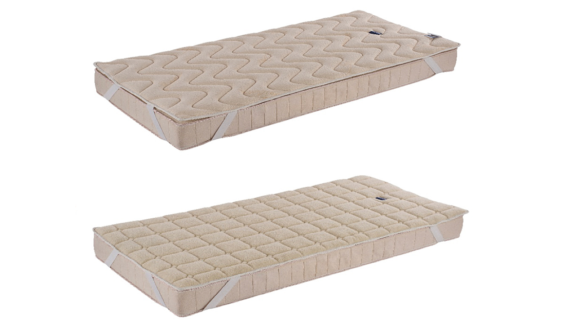 year-round reversible organic cotton or wool mattress topper