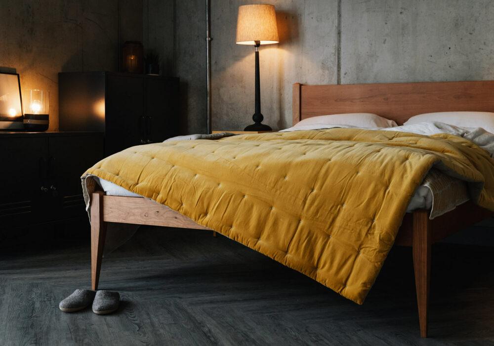 velvet quilt on Cochin bed